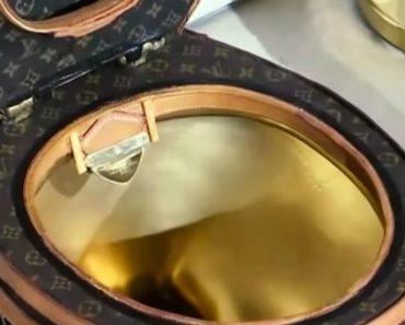 Veja Como é a Retrete Dourada Da Louis Vuitton Que Custa 100,000 Dólares 4