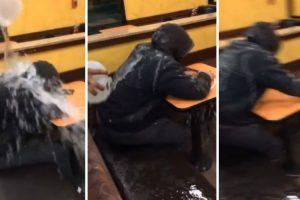 Funcionários De Café Despejam Água Em Sem-Abrigo Que Dormia No Interior Do Estabelecimento 9