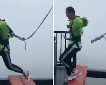 Cabo De Segurança Desconeta-se Enquanto Jovem Corre Sobre Plataforma Aberta a 150 Metros Do Chão 4