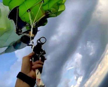 Paraquedista Vive Momento Assustador Devido a Problema Com Paraquedas Durante Salto 5