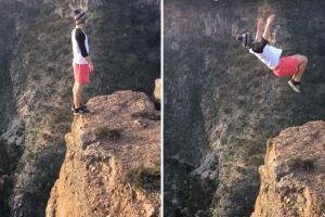 Jovem Faz Arriscado Salto Mortal Para Trás à Beira De Um Penhasco 10