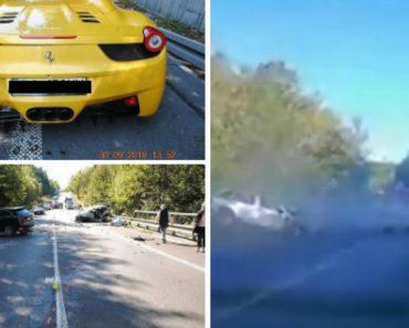 Corrida Ilegal Entre Ferrari e Porsche Causa a Morte De Condutor Inocente 5