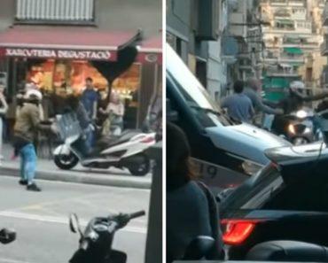 Mulher Tenta Roubar Moto Após Envolver-se Numa Briga Com Motociclista 4