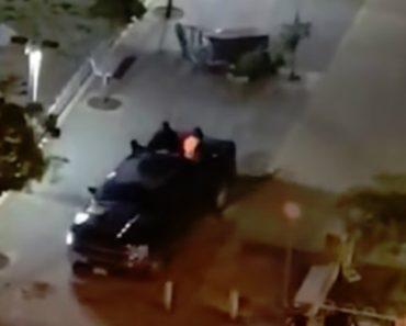 Assaltantes Deixam Rasto De Destruição Ao Fugirem Em Carrinha Com Caixa ATM a Arrastar Pelas Ruas 2