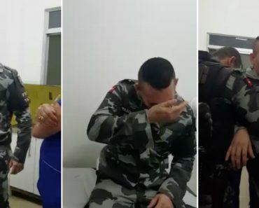 Militar Com Medo De Levar Uma Injeção Dá Luta Aos Enfermeiros Mas Acaba Por Levar Com a Picada 9