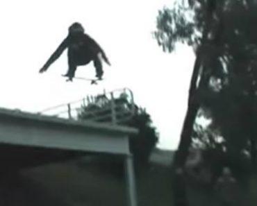 Seria Mais Um Vídeo Mostrando Um Salto Com Skate, Não Tivesse Tido Este Desfecho Bizarro 8