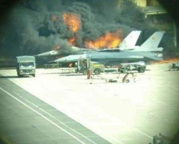 Mecânico Dispara Acidentalmente e Destrói F-16 1