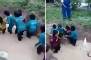 """Funcionários De Escola Fazem Treino """"Espírito De Equipa"""" Em Crianças Usando Água e Cobras 10"""