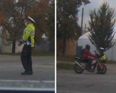 Polícia Usa o Próprio Corpo Para Impedir Fuga De Motociclista Que Tentava Escapar De Operação STOP 4