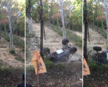 Condutor Quase Fica Debaixo Do Jipe Após Capotar Em Prova De Todo Terreno 1