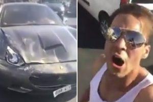 Como Se Sente Um Homem do Médio Oriente Após Sofrer Acidente Com Ferrari e Ficar Sem Carta De Condução 9