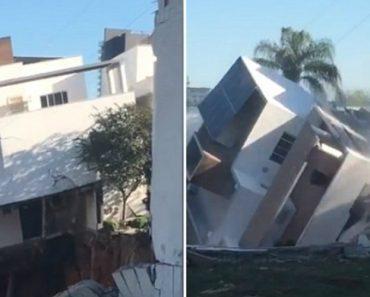 Desolador Momento Em Que Proprietário Filma a Sua Casa a Desabar Em Poucos Segundos 5