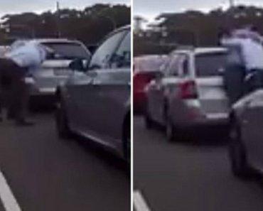 Dois Condutores Aproveitam Espera Na Fila De Trânsito Para Se Agredirem 7