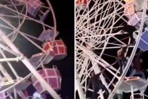 Um Grande Susto: Cabine De Roda Gigante Vira Com Pessoas No Interior 9