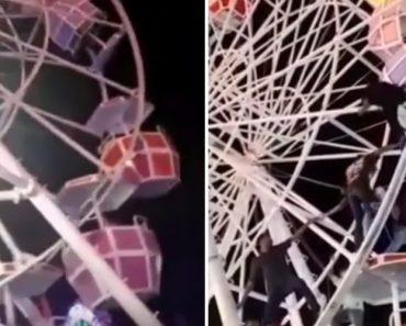Um Grande Susto: Cabine De Roda Gigante Vira Com Pessoas No Interior 4