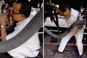 Trabalhador Tem o Susto Da Sua Vida Quando Comboio Começa a Andar Enquanto Fazia Reparação Debaixo Dele 10