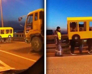 Amigos Disfarçaram-se De Autocarro Para Atravessar Ponte Proibida a Pedestres 1