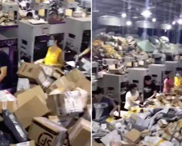 A Loucura Que é Trabalhar Num Centro De Triagem De Encomendas Na China 2