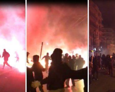 Adeptos Do AEK e Ajax Causam o Pânico Nas Ruas De Atenas 8