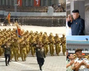 Colocaram Exército Da Coreia Do Norte a Marchar Ao Som Dos Bee Gees e o Resultado é Digno De Ser Visto 6
