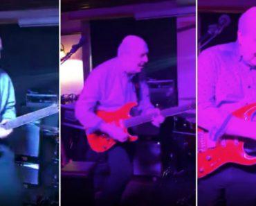Avôzinho Chama a Atenção De Todos Com Dotes Hipnóticos Para a Guitarra Elétrica 2