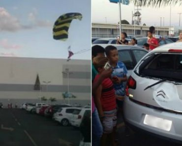 Chegada Do Pai Natal a Centro Comercial Brasileiro Acaba De Forma Catastrófica 5