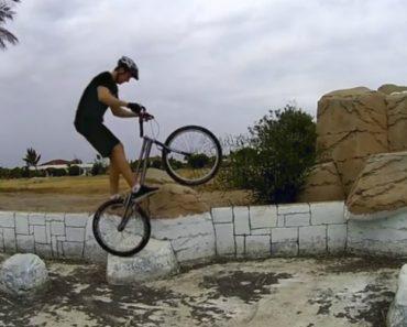 Ciclista Tem Surpresa Desagradável Enquanto Filmava Acrobacias 9
