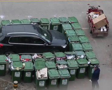 Homem Do Lixo Vinga-se De Carro Mal Estacionado De Forma Bastante Original 5