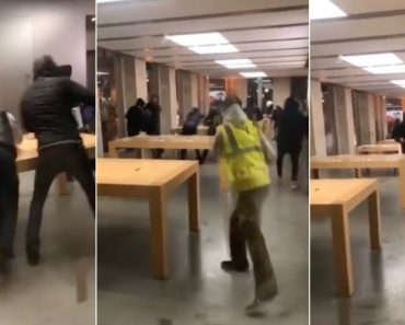 França: Manifestantes Invadem Loja Da Apple e Roubam iPhones, iPads e MacBooks 8