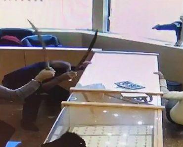 Ladrões Tentam Assaltar Joalharia Mas São Surpreendidos Por Empregados Com Espadas 1
