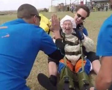 Avó Radical Salta De Paraquedas Aos 102 Anos e Estabelece Novo Recorde Mundial 3