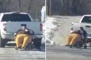 Mulher Em Cadeira De Rodas é Puxada Por Pick Up Por Não Caber Dentro Do Veículo 9