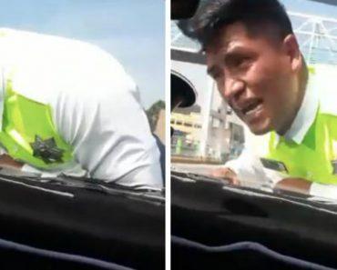Condutor Nega-se a Pagar Multa e Foge Com Polícia Agarrado Ao Capô Do Carro 2