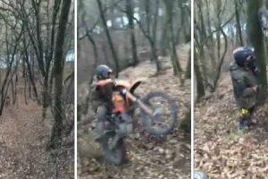 Homem Acidentalmente Faz o Estacionamento Perfeito Durante Percurso De Motocross 10