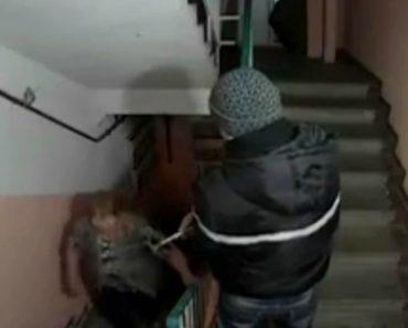 Câmara De Vigilância Instalada Nas Escadas De Prédio Russo Revela Os Vários Comportamentos Dos Moradores 2