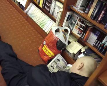 Homem Tem Ideia Hilariante Ao Cruzar-se Com Cliente Que Adormeceu Em Livraria 6