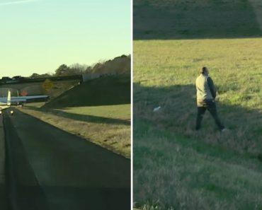 Piloto Urina na Berma Da Estrada Após Fazer Aterragem De Emergência Em Autoestrada 2