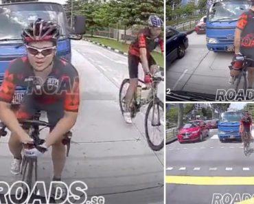 Ciclista Mete-se Com o Camionista Errado e Acaba Por Perceber Isso Tarde Demais 9