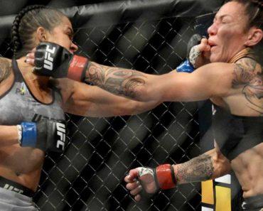 """UFC Em """"Choque"""": Amanda Nunes Fez História Ao Arrasar Crys Cyborg Em 51 Segundos 9"""