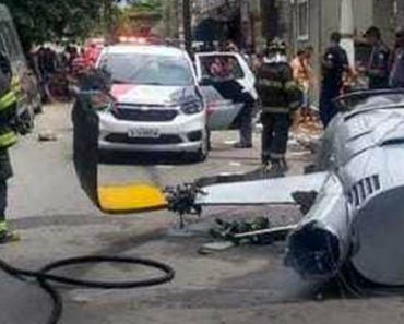 Piloto e Passageiros Sobrevivem a Acidente De Helicóptero Que Provocou a Morte De Um Pedestre 1