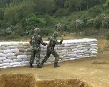 Recruta Do Exército Chinês Lança Granada Contra Si Mesmo Durante Exercício 4