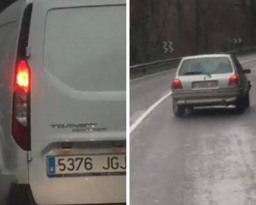 Automobilista Tenta Fazer As Curvas Num Carro Seriamente Danificado 3