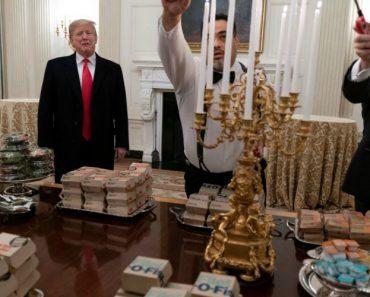 """Trump Oferece Banquete De """"Fast-Food De Luxo"""" a Atletas Na Casa Branca 9"""