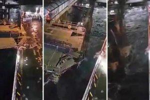 Passageiro Filma Momento Em Que Ferry Colide Com Doca Devido Aos Fortes Ventos 10