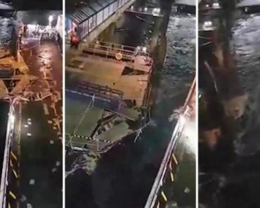 Passageiro Filma Momento Em Que Ferry Colide Com Doca Devido Aos Fortes Ventos 9