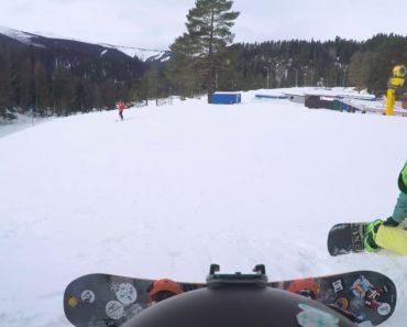 Praticante De Snowboard Sofre Bizarro Acidente Envolvendo Um Carneiro 8