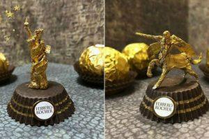 Artista Cria Esculturas Fantásticas Com o Papel Dos Chocolates Ferrero Rocher 30