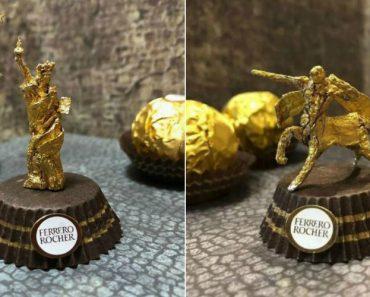 Artista Cria Esculturas Fantásticas Com o Papel Dos Chocolates Ferrero Rocher 8