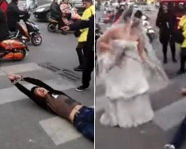 Noiva Arrasta Noivo Acorrentado Pela Rua Por Não Ter Ido Ao Casamento 1