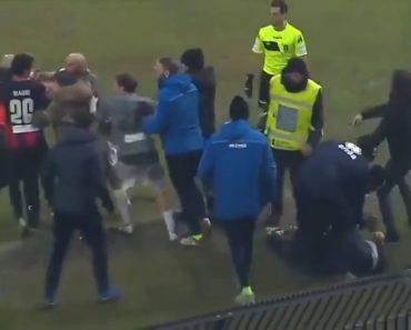 Treinador Deixa Rival KO Com Cabeçada Na Série C Italiana 6